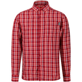 Regatta Mindano III Camiseta Manga Larga Hombre, delhi red